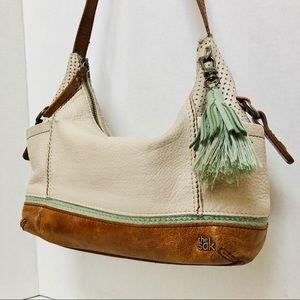 THE SAK-Kendra Sachet leather handbag.